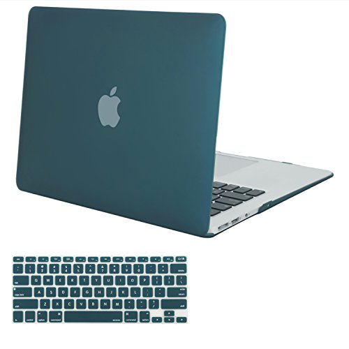 MOSISO MacBook Air 13 Inch Case (Release 2010-2017 Older Version), Plastic Hard Shell Case & Keyboard Cover Only Compatible MacBook Air 13 Inch (A1369 & A1466), Deep Teal