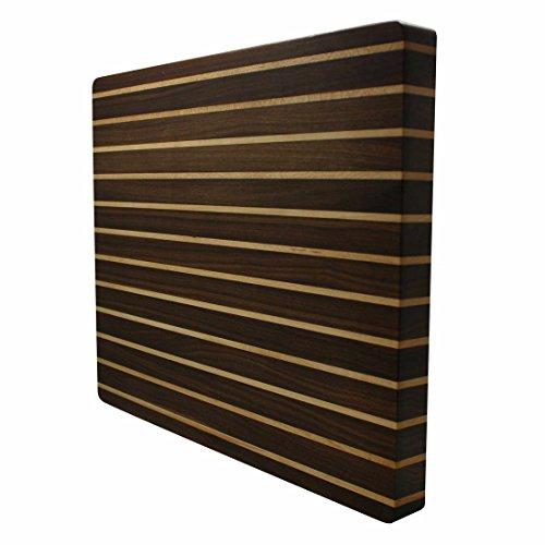 Kobi Blocks Stripes Walnut/ Maple Butcher Block Wood Cutting Board 24