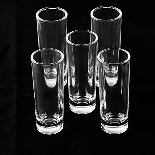 Juvale Bulk 24-Pack Clear Shooters Tall Shot Glasses for Parties, Parfaits, Dessert, Tequila, Whiskey, Vodka - 2 Ounces by Juvale (Image #3)