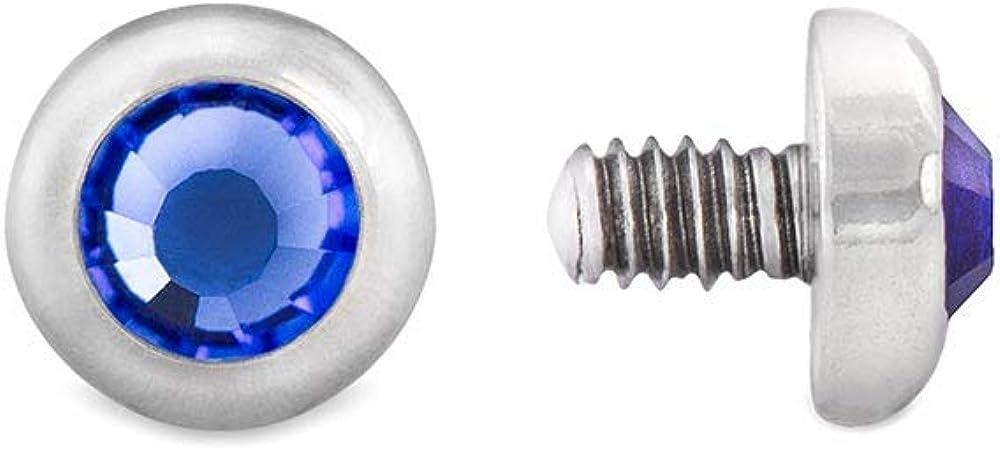 Painful Pleasures 14g–12g Internally Threaded Thin Flat Jewel Top — Price Per 1