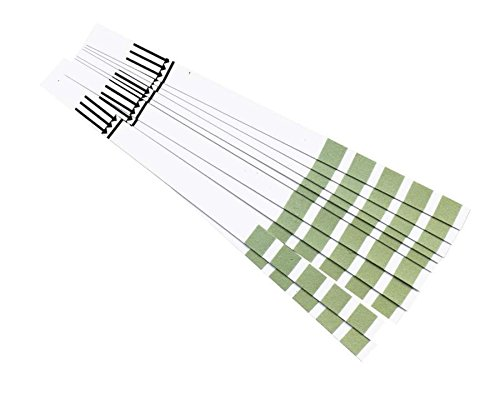Pack of 10 Aquadur Water Hardness Strips with Colourful Scale for Determining Water Hardness, Test Sticks, Indicator Paper, Lime Test Strips
