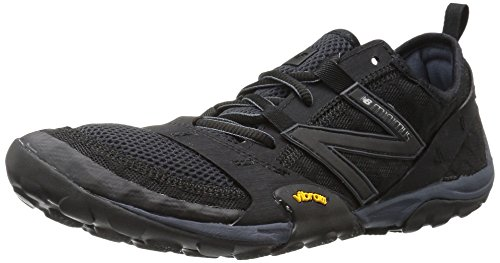(New Balance Men's MT10V1 Minimus Trail Running Shoe, Black/Silver, 10 2E US)