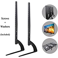 Universal TV Stand Base Mount for 37-70 LED OLED LCD TV Desk Table Top TV Stand for All Most All Televisions, Black