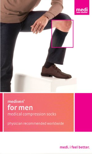 Mediven for Men 20-30mmHg Knee High Compression Socks : Black Size III by Medius B004GLCEHQ