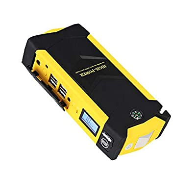 Car Jump Starter 600A 20000Mah Portable Auto Emergency Battery Booster(6.0L Gas Or 4.0L Diesel Engieen) with Smart Jumper Clamps Type C Quick Charger Built in LED Flashlight (3 Light Mode)