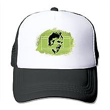 Pattern Snapback Hats Mesh Cap Roger Federer Tennis Flat-along