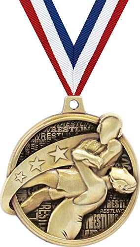 レスリングメダル 2インチ クドス レスリングホールド賞 メダル ゴールド B07GK81R9K  10