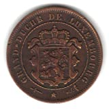 1901 Luxembourg 2 1/2 Centimes Coin KM#21