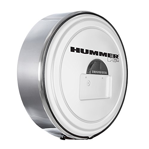 Boomerang Hummer H2 (05-10) - MasterSeries Hard Tire Cover - (Painted Plastic Face & Polished Stainless Steel Ring) - Birch White