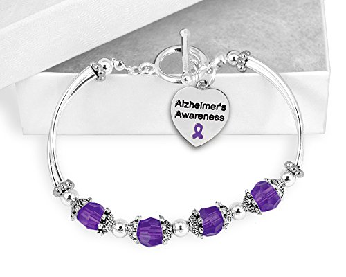 Fundraising For A Cause 12 Alzheimer's Awareness Partial Beaded Bracelets (Wholesale Pack - 12 Bracelets)