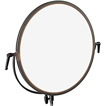 Fotodiox Pro FlapJack Studio (C-700RSV) Bicolor LED Studio Edge Light - 18-Inch Round Ultra-thin Professional Dual Color LED, Dimmable Photo / Video Light Kit with Case
