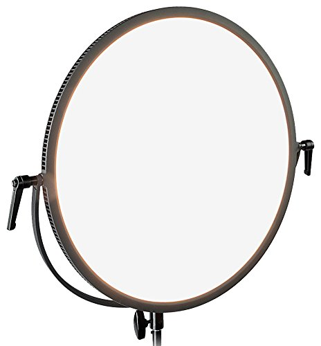 Fotodiox Pro FlapJack Studio (C-700RSV) Bicolor LED Studio Edge Light - 18-Inch Round Ultra-thin Professional Dual Color LED, Dimmable Photo / Video Light Kit with Case by Fotodiox