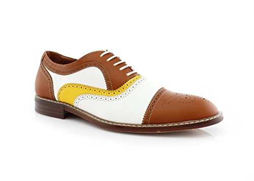 Shoes Perforated Lace Men's MFA Ferro Brown Dress Classic Aldo Yellow 19355 Up White Oxford 5qn0w8Ox8S