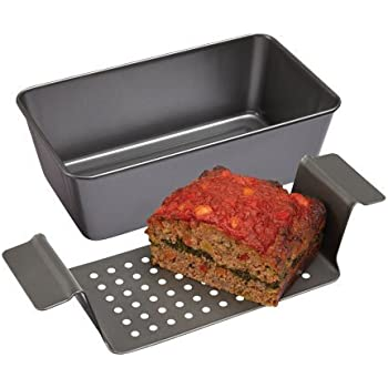 Amazon Com Ovenstuff Non Stick Meatloaf Pan With Fat A