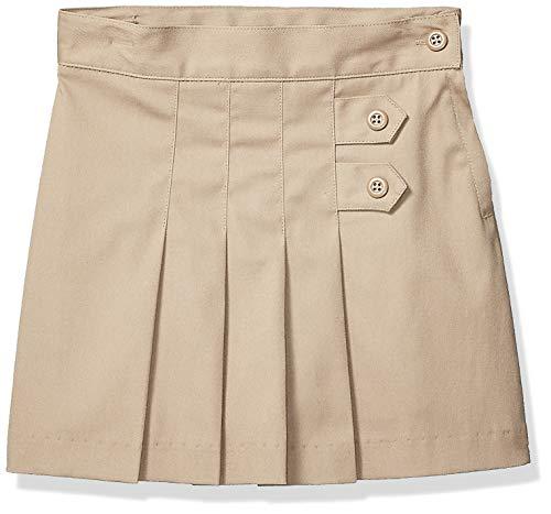 - Classroom School Uniforms Girls' Big Tab Pleat Scooter, Khaki, 7