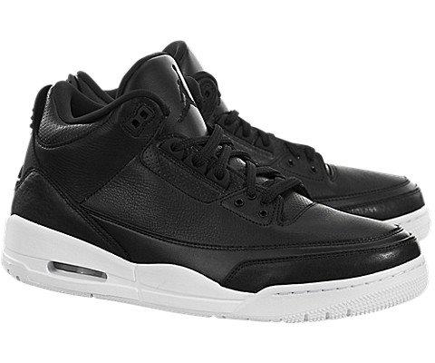 Jordan Nike Air 3 Retro Bg Boys Basketball Shoes (6.5Y, Black/Black/White) by Jordan