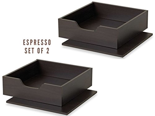 Shelf and Tray (2, Espresso)