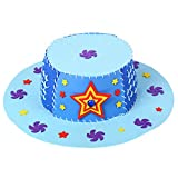 Children 3D Puzzle DIY Handmade EVA Hat Art Craft Birthday Gift Educational Toy - Blue