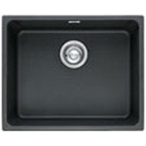 Franke Kubus 1.0 B Granite Onyx Black Undermount Kitchen Sink & Waste...