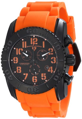 Swiss Legend Men's 11876-TIB-01-OAS Commander Analog Display Swiss Quartz Orange Watch