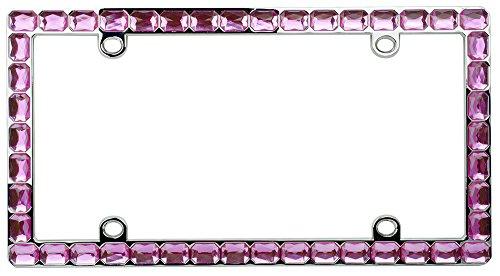 - Custom Frames 92875 Pink/Gem/Chrome License Plate Frame
