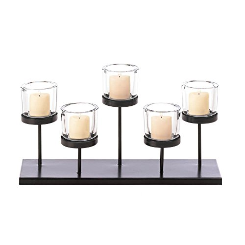 Candle Holder Hurricane Lantern Cylinder Votive Wedding Tealight Pillar Unity Centerpiece Decorative by DecorDuke