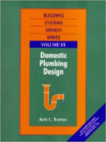 Building Systems Design Series Volume 3: Domestic Plumbing Design