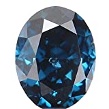 0.16 Ct Natural Loose Diamond Cut Oval Shape Blue Color 3.50X2.70X2.00 MM SI2 Clarity N5567