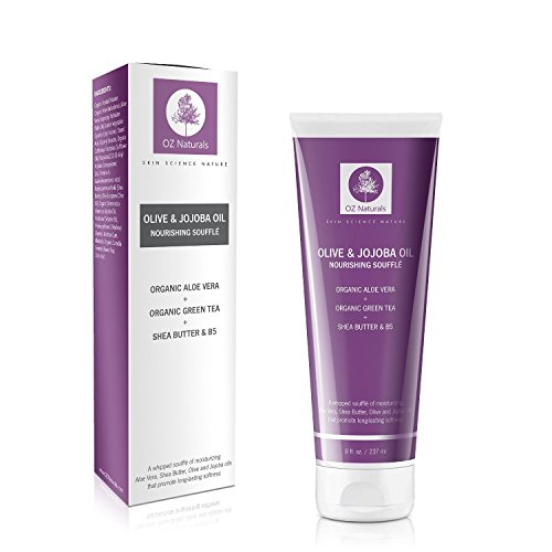 OZNaturals Body Moisturizer - This Natural Moisturizer Contains Shea Butter, Olive & Jojoba Oil Whipped Into A Rich Soufflè Which Will Provide Your Skin With That Youthful, Healthy Glow!