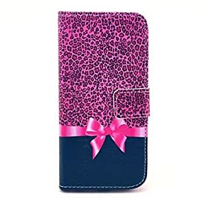 JOE Leopard Bow Pattern PU Leather Cover with Stand and Card Slot for iPhone 6