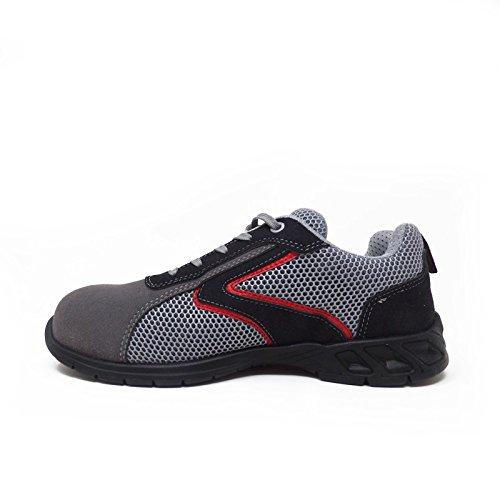 Shaker S1P Happy U-Power - Zapato de seguridad Airnet + microfibra con puntas de Carbon gris Size: 46 PjUO2I0gy