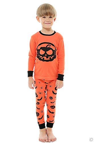 AMGLISE Little Boys Girls Halloween Pajamas Pumpkin Pjs Kids Sleepwear Set 10
