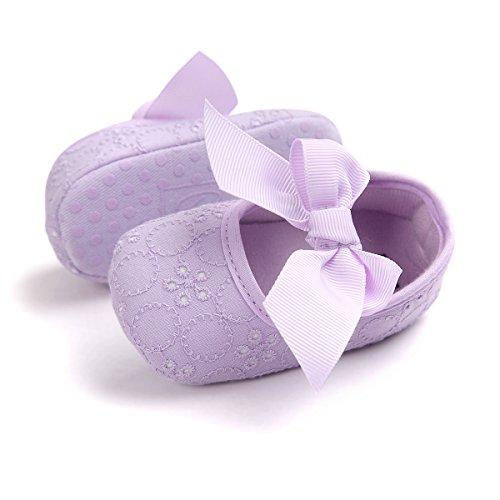 KISSOURBABY Girls' Shoes Girl's Ballerina Flat Shoes Mary Jane Dress Shoes (Purple12cm) ()