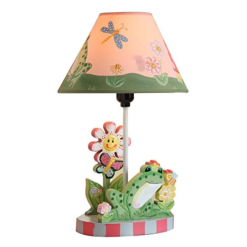 Fantasy Fields - Magic Garden Thematic Kids Table Lamp | Imagination Inspiring Hand Painted Details   Non-Toxic, Lead Free Water-based (Garden Magic Table Lamp)