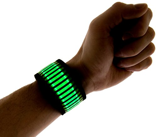 Neon Nightlife LED Slap Band Bracelet/Armband, Striped