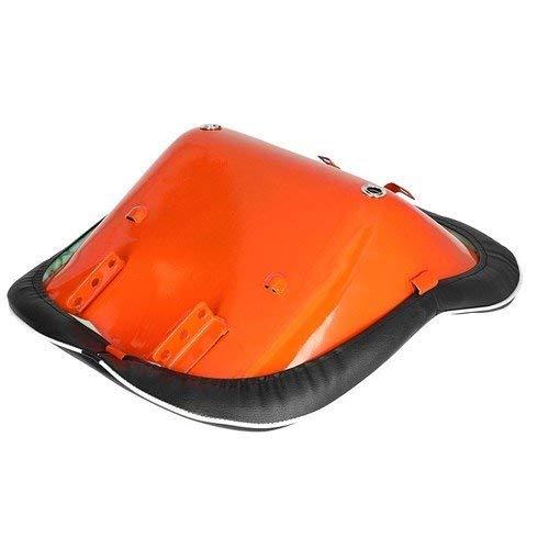Seat Assembly Vinyl Black with Orange Steel Backed Seat Kubota