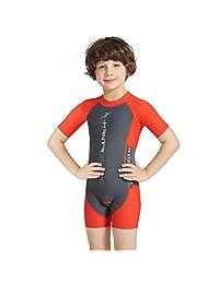 Kids Swimsuit One Piece Swimwear - Baby Boys Beachwear Girls Surfing Suits UV50