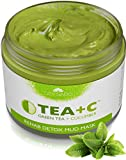 LILY SADO Green Tea Matcha + Cucumber Detox Mud Mask - Natural, Organic Vegan Face Mask - Anti-Aging, Antioxidant Defense Against Acne, Blackheads & Wrinkles for a Luscious, Soft Glowing Complexion