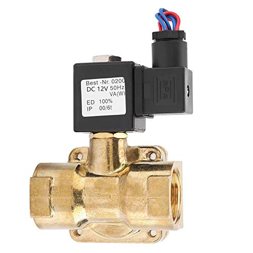 (1''Solenoid Diaphragm Valve, Normally Closed Water Air Solenoid Valve, 2 Way N/C Seal Solenoid Valve, 0.07~1.6MPA(DC12V))