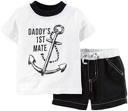 Carter's Baby Boys' 2 Piece Swim Set (Baby) - White - 18 Months