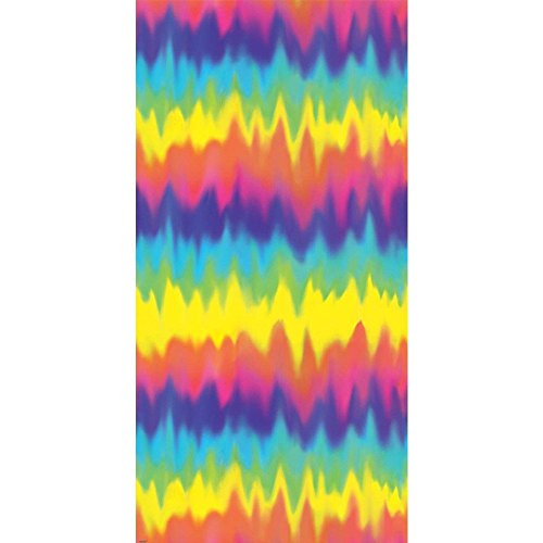 Amscan 670150 Groovy 60's Party Colorful Tie Dye Scene Setters Room Roll Decoration (1 Piece), Multicolor,; 48