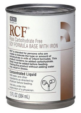 RCF Ross Carbohydrate Free Soy Formula Base with Iron, Concentrated Liquid, 13-Ounce (Pack of ()