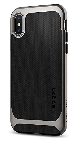 Spigen Neo Hybrid iPhone X Case Herringbone with Flexible Inner (Large Image)