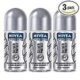 Nivea for Men Silver Protect Deodorant Roll-on 50 ml (3Pcs Per Pack)