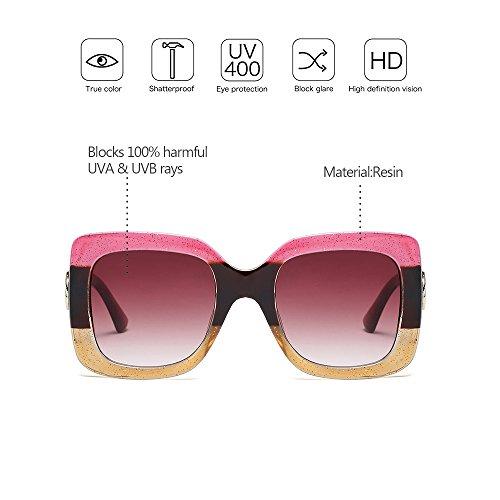 Style Femmes style soleil ZEVONDA Grand surdimensionnées Mode monture à 02 Lunettes de Protection Dernier Lunettes UV400 gcnp6