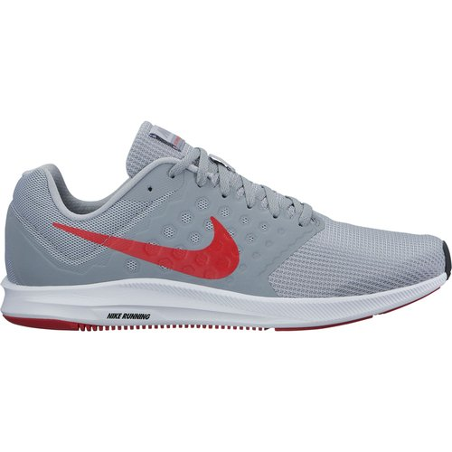 b08f68b46157 Galleon - NIKE Mens Downshifter 7 Wolf Grey Red Stealth Black Size 7.5