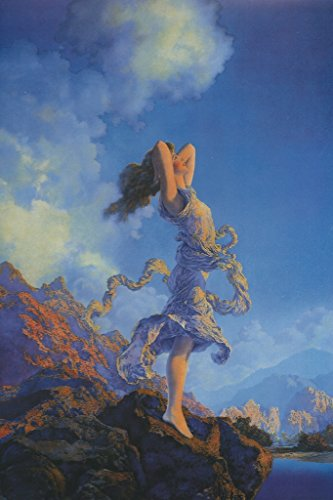 Mazda Calendar - Ecstasy, by Maxfield Parrish, 12x18 Poster, Heavy Stock Semi-Gloss Paper Print