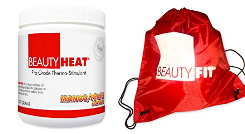 BeautyFit BeautyHeat Powder and FREE BeautyFit String Backpack, Women's Pro-Grade Thermo-Stimulant (Mango Peach)