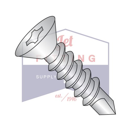 8-18X2 1/2 Self-Drilling Screws | Phillips | Flat Head | 410 Stainless Steel (QUANTITY: 2000) by Jet Fitting & Supply Corp