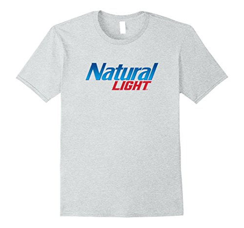 Natty Light - Mens Natural Light Logo Tee Medium Heather Grey